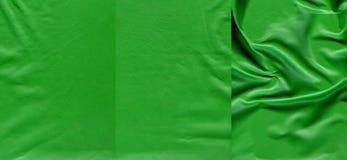 Ensemble de textures en cuir vertes Photos stock