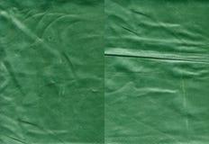 Ensemble de textures en cuir vertes usées Images libres de droits