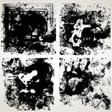 Ensemble de textures grunges de vecteur Image libre de droits