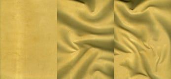Ensemble de textures oranges douces de cuir de suède Photo stock