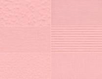 Ensemble de textures sensibles roses Image libre de droits