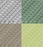 Ensemble de textures squamous de vecteur Photo stock