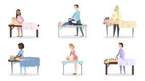 Ensemble de thérapie de massage illustration de vecteur