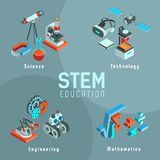 Ensemble de TIGE d'icônes isométriques illustration stock