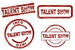 Ensemble de timbre d'encre d'exposition de talent Photographie stock libre de droits
