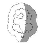 ensemble de timbre de silhouette d'icône abstraite d'arbre Photos libres de droits