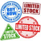 Ensemble de timbre de stock limité Photographie stock libre de droits