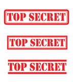 Ensemble de top secret Images stock