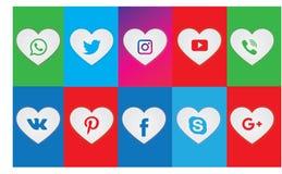 Ensemble de toute l'icône sociale de réseau de media Media social Logo Collection illustration libre de droits