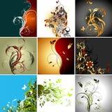 Ensemble de trames florales illustration stock