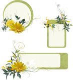 Ensemble de trames florales grunges Images libres de droits