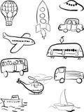 Ensemble de transport Photo stock