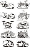 Ensemble de transport Images libres de droits