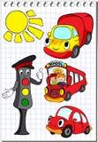 Ensemble de transport avec des feux de signalisation Image stock