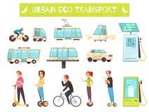 Ensemble de transport d'Eco illustration libre de droits