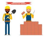 Ensemble de travailleur de la construction de sexe masculin Image stock