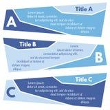Ensemble de trois bannières colorées horizontales d'options Photographie stock libre de droits