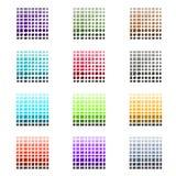Ensemble de tuile et de palette de couleurs de pierre Photo stock