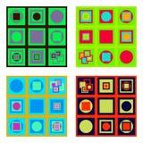 Ensemble de tuiles colorées Photographie stock