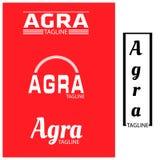 Ensemble de typographie d'Âgrâ, conceptions plates illustration libre de droits