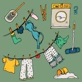 Ensemble de vêtements illustration de vecteur