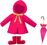 Ensemble de vêtements de pluie Photographie stock libre de droits