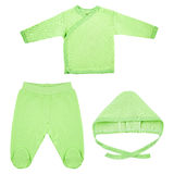 Ensemble de vêtements pour des bébés et des enfants, isolement Photos libres de droits