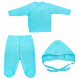Ensemble de vêtements pour des bébés et des enfants, isolement Images libres de droits