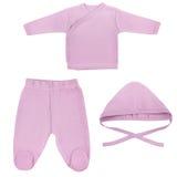 Ensemble de vêtements pour des bébés et des enfants, isolement Photographie stock