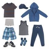 Ensemble de vêtements pour le garçon Images stock
