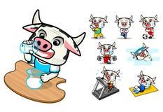 Ensemble de vache saine Photo stock