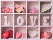 Ensemble de valentine de vintage Image libre de droits