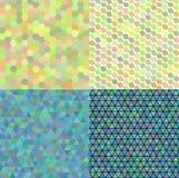 Ensemble de vecteur abstrait coloré de mosaïque de transparence Photo stock