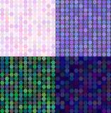 Ensemble de vecteur abstrait coloré de mosaïque de transparence Photographie stock libre de droits