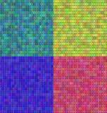 Ensemble de vecteur abstrait coloré de mosaïque de transparence Photos stock