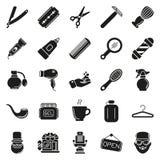 Ensemble de vecteur Barber Shop Elements Photographie stock