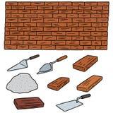 Ensemble de vecteur de briques illustration stock