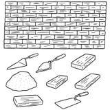 Ensemble de vecteur de briques illustration de vecteur