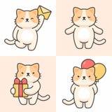 Ensemble de vecteur de caractères mignons de chat illustration libre de droits