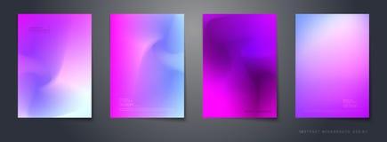 Ensemble de vecteur de conception liquide color?e abstraite de fond, d'abstraction, olographe et de gradient de composition de co illustration libre de droits