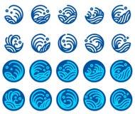 Ensemble de vecteur de conception de logo de vague d'eau illustration libre de droits