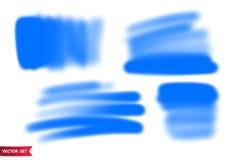 Ensemble de vecteur de courses tirées par la main d'aerographe Milieux tirés par la main artistiques d'une couleur illustration libre de droits