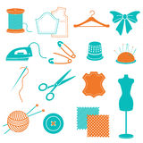 Ensemble de vecteur d'équipement et de substance de couture Photos stock