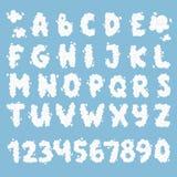 Ensemble de vecteur d'alphabet de nuage Photographie stock libre de droits
