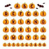 Ensemble de vecteur d'alphabet de police de Halloween illustration libre de droits