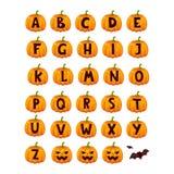 Ensemble de vecteur d'alphabet de police de Halloween illustration de vecteur