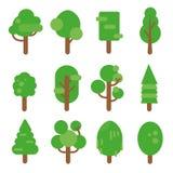 Ensemble de vecteur d'arbre Image libre de droits