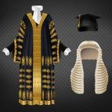 Ensemble de vecteur d'habillement cérémonieux pour des juges illustration stock