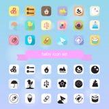 Ensemble de vecteur d'icône de jouet de bébé Images stock