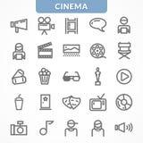 Ensemble de vecteur d'icônes Photographie stock libre de droits